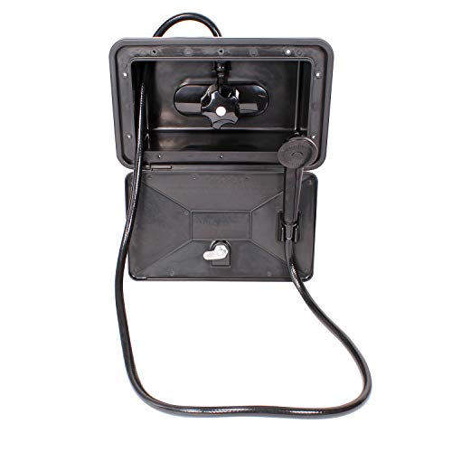 Empire Faucets RV Exterior Shower Box Kit Black RV Outdoor Shower Faucet, Shower Valve and Camper Shower Head and Hose