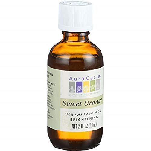 Aura Cacia Essential Oil, Brightening Sweet Orange, 2 fluid ounce ()