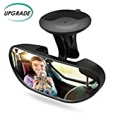 Alcoon Upgrade Baby Car Backseat Mirror Rear View Facing Back Seat Mirror Baby Safety Rearview Mirror for Infant Toddler Child with 360 Degree Adjustable Strengthen Suction Cup (5.9 x 2.2 Inch)