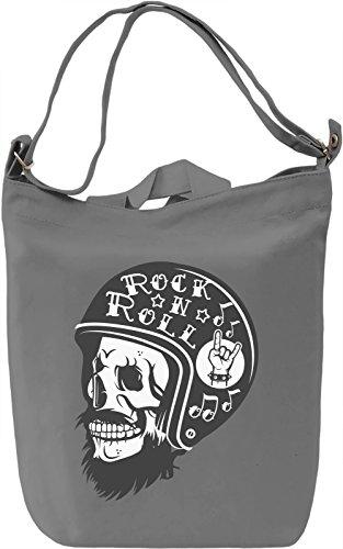Biker skull Borsa Giornaliera Canvas Canvas Day Bag| 100% Premium Cotton Canvas| DTG Printing|