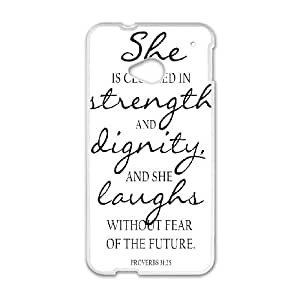 Strength And Dignity HTC One M7 Cell Phone Case White O1646669