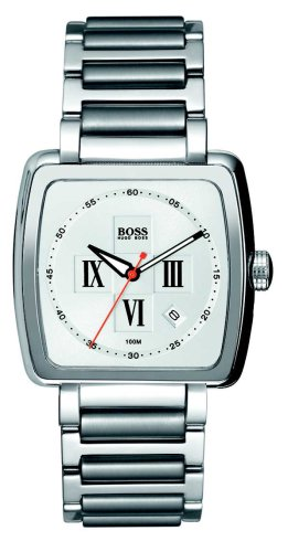 Hugo Boss White Dial Stainless Steel Mens Watch HB1512072