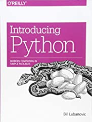 Easy to understand and fun to read, Introducing Python is ideal for beginning programmers as well as those new to the language. Author Bill Lubanovic takes you from the basics to more involved and varied topics, mixing tutoria...