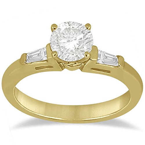 Three Stone Diamond Tapered Baguette Engagement Ring in 14K Yellow Gold (0.20tcw) 14k Yellow Tapered Baguette