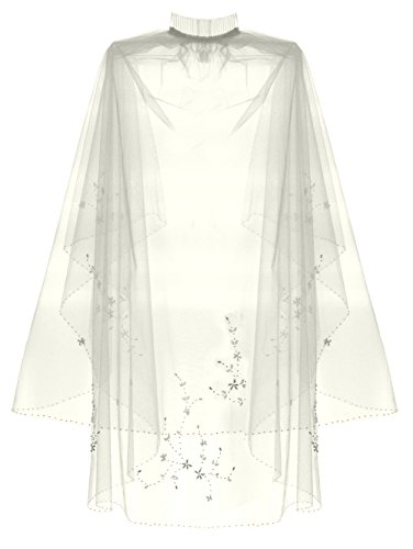 Length Embroidery Wedding Veil (2 Tier Floral Bead Embroidery Bridal Wedding Veil Fingertip lengths - Ivory)