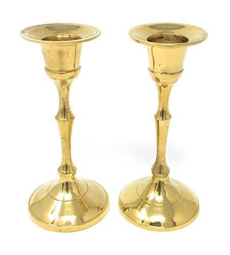 Brass Candlestick Holders for 5/8