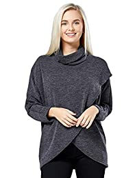 HAPPY MAMA. Womens Maternity Nursing Wrap Top Thin Knitwear Double Layer. 370p