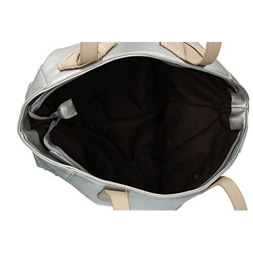 Bolsa mujer hombro PIERRE CARDIN plata abertura zip VN1400