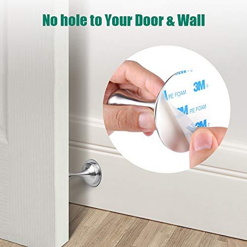 Door Stopper,2 Pack Magnetic Door Stops, Stainless Steel Door Catch, No Need to Drill - 3M Double-Sided Adhesive Tape, Keep Your Door Open, Door Stopper from Heleman Photo #3