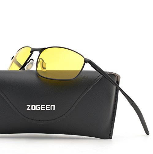 ZOGEEN Polarized Sunglasses For Men Rectangle Metal Frame Retro Sun Glasses A395 (Night - Your Protect Are Sunglasses The What To Eyes Best