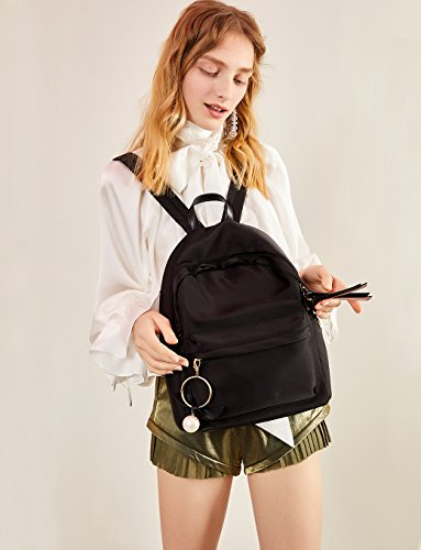 Womens for Book College Bags Backpacks LA'FESTIN Cute Fashion Black Oxford Fabric Girly Rzxd7q