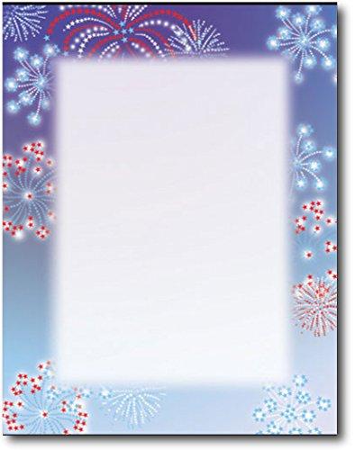 Patriotic Stars Letterhead Paper - 80 Sheets
