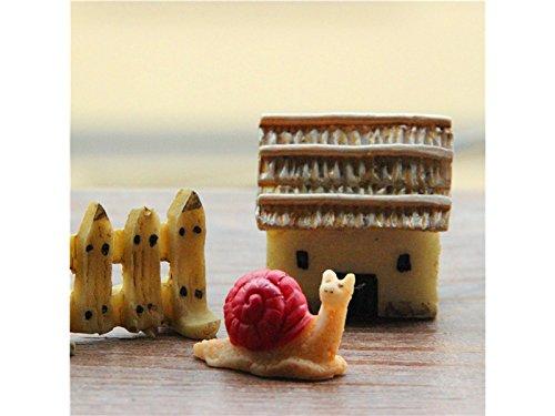 FERFERFERWON Micro Mini lumache in Resina Ornamenti Forma Balcone Fiori Giardinaggio Bonsai Decorazioni Animali (Rosso) Decorazione del Paesaggio