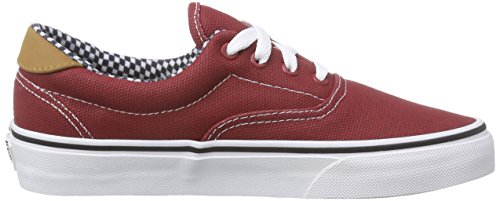 VansU ERA 59 - Zapatillas Unisex adulto Rojo - Rot ((Waxed Canvas) chili pepper)