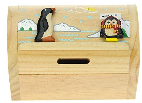Pinguin : Spardose mit Geheim Lock: Handcrafted Holz: Top Weihnachten und Geburtstag Geschenk-Idee: Qualität traditionelle Weihnachtsgeschenk für Jungen, für Mädchen, für ihn, für sie, für Kinder & For Fun Liebend Erwachsene! (Größe 17x13x5cm)