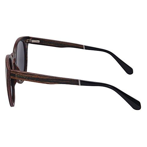 de los Polarized Sol Libre Mano Gafas de Gafas de Gafas Sol Protección UV conducción Lens Sol Zhongsufei de Vacaciones de de al la TAC a Madera Gris Hechas so Wayfarer de Hombres Aire en Playa Gafas OP5YqwPZ