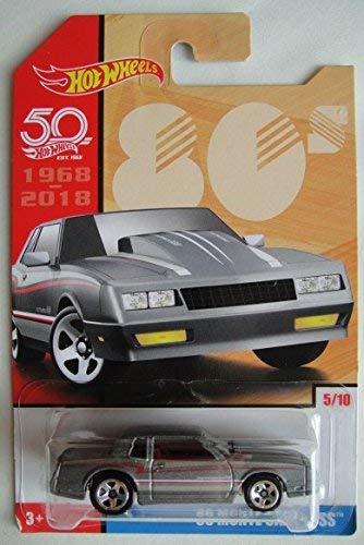 Hot Wheels 80s, GRAY '86 MONTE CARLO SS 5/10 50TH ANNIVERSARY