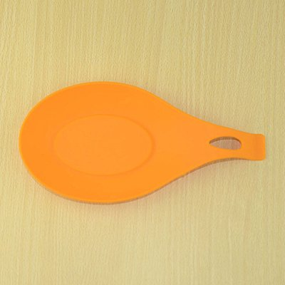 1Pcs Silicone Insulation Mat Rest Spatula Holder Heat Resistant Placemat Coaster Tray Fork Pad Tray Kitchen Accessories Orange