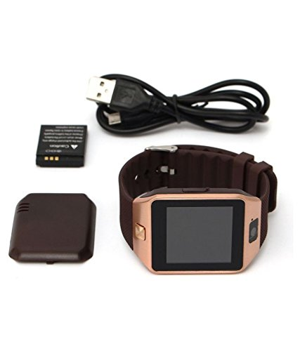 Bluetooth Smart Watch with Camera, Aosmart DZ09 Smartwatch for Android Smartphones - Gold by Aosmart (Image #6)