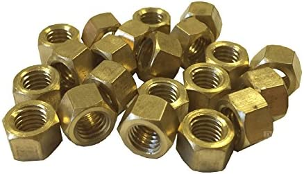 16 x Brass Exhaust Manifold Nuts M10 x 1.25 Pitch High Temperature