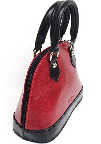 en a Modèl main Mini cuir Madrid Sac Cuir noir rouge Fabriqué haute véritable en de Italie qualité SUPERFLYBAGS qtRwpxx