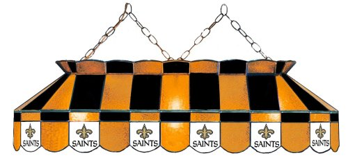 (Imperial Officially Licensed NFL Merchandise: Tiffany-Style Stained Glass Billiard/Pool Table Light, New Orleans Saints)
