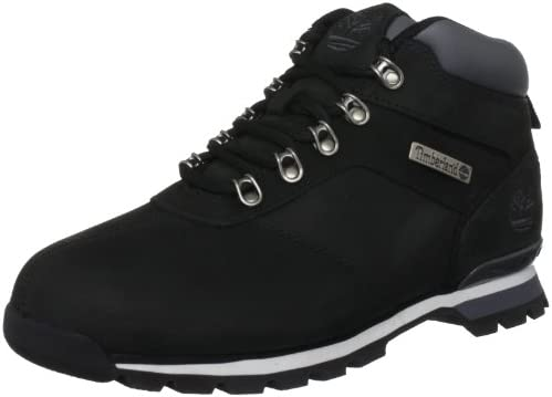 Mens Timberland Splitrock 2 Hiker Leather Hiking Black Ankle Boots