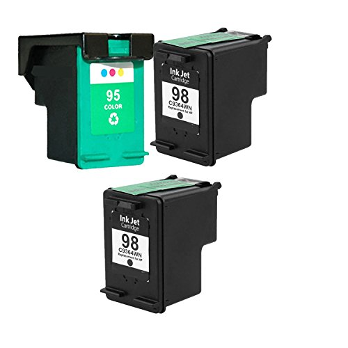 3 PK C8766W,2xC9364W (#95, #98) Remanufactured Ink for De...