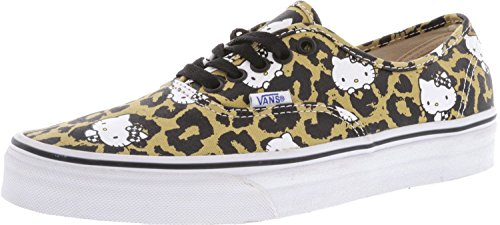 8e9272390ad7af Vans Authentic Hello Kitty Leopard True White Canvas Skateboarding ...