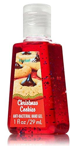 Bath and Body Works Christmas Cookies Pocketbac - Bath & Body Works Antibacterial Hand Sanitizer Gel 1.0 fl oz (Oatmeal Body Cookie)