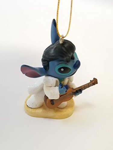 "Disney Lilo And Stitch Elvis Stitch Alien Dog 3"" Pvc Figure Figurine Custom Holiday Christmas Tree Ornament"