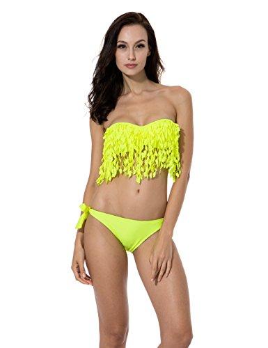 RELLECIGA Push up Bandeau Swimsuit Stylish product image
