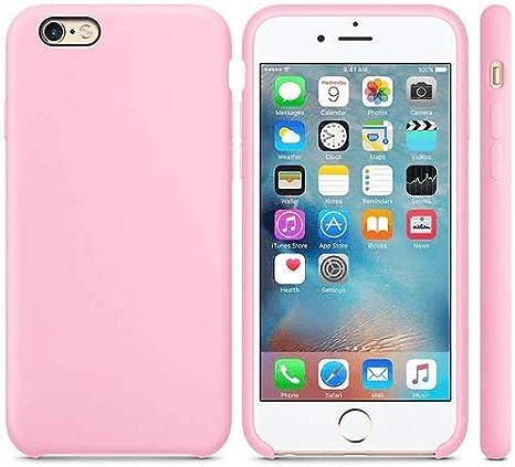 CABLEPELADO Funda Silicona iPhone 7/8 Textura Suave Color Rosa