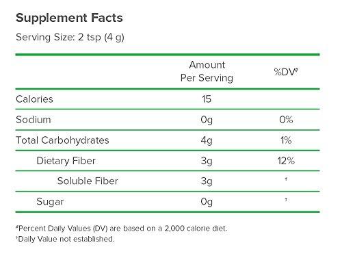 Benefiber Taste-Free, Sugar-Free Fiber Supplement Powder for Digestive Health, 125 servings (17.6 ounces)