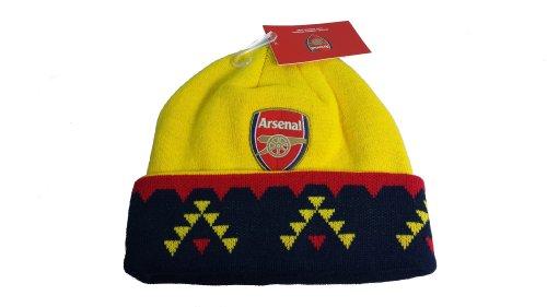 Arsenal FC Official SOCCER One Size Knit Beanie Hat by Rhinox by Rhinox
