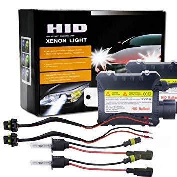 Uniqus 55W 3200LM H3 4300K HID Bulbs Xenon Light Conversion Kit with High Intensity Discharge Alloy Ballast, Warm White