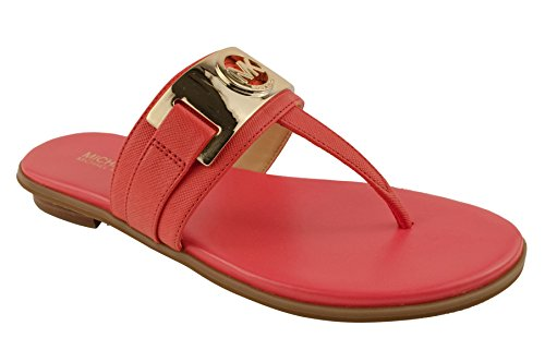 Kors Thongs Leather Michael (Michael Michael Kors Women¡¯s Warren Watermelon Thong Sandals 6 B(M) US Women)