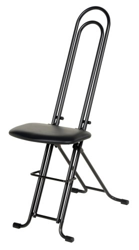 "Vestil CPRO-800LP Ergonomic Worker Seat/Chair, 13-1/2"" Width, 10"" Depth, 300 lb. Capacity, 18"" - 33"" Height Range from Vestil"