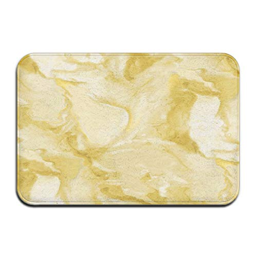 Large Scale Watercolor in Citrine Glow Doormat Floor Mat with Non-Slip Backing Bath Mat Rug Funny Home Decor Rug Carpets 23.6 x 15.7 Inches