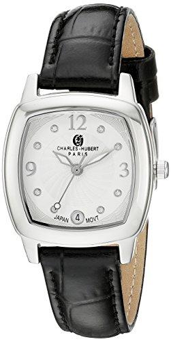 Charles-Hubert, Paris Women's 6907-W Premium Collection Analog Display Japanese Quartz Black Watch