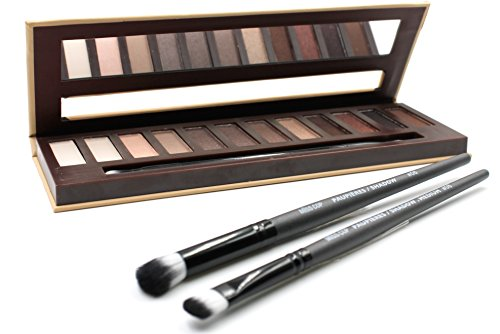 Misscop 12 Colors Professional Eyeshadow Palettes Makeup Set - Highly Pigmented for Intense, Delicate or Natural Shades - Includes 2 Brushes for Smooth Application