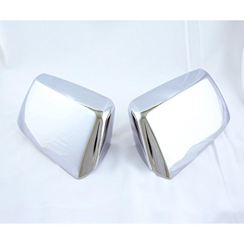 LJ INTERNATIONAL Quality Accessories Chrome Plated Replacement Mirror Covers Compatible with 2015&up Chevy - Plated Chrome Replacement
