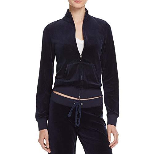 (Juicy Couture Black Label Robertson Velour Zip Track Jacket (Regal, Medium))