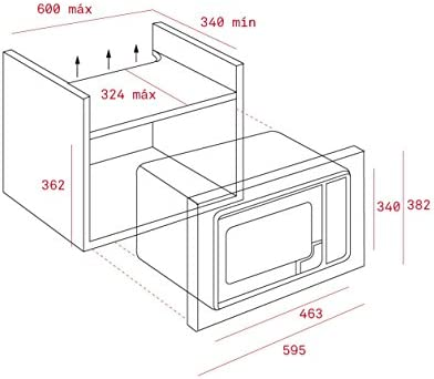 Teka MWE 225 FI - Microondas (Integrado, 20L, 800 W, Botones, Acero inoxidable, 1000 W)