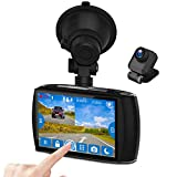 """Best Front And Rear Dash Cams - Dual Dash Cam, 4.0"""" Touch Screen Z-EDGE Ultra Review"""