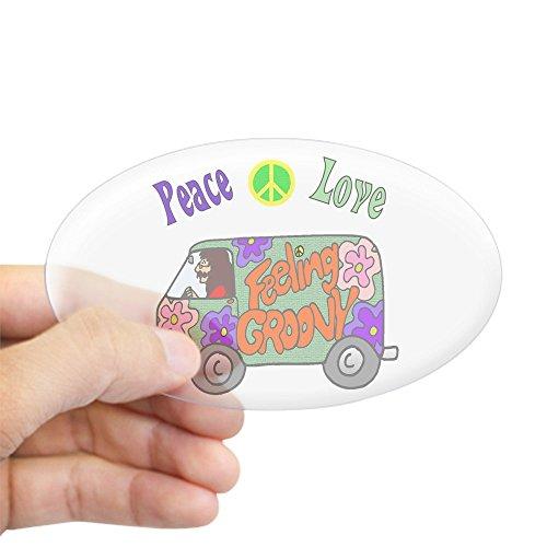 CafePress Groovy Van Oval Bumper Sticker, Euro Oval Car Decal ()