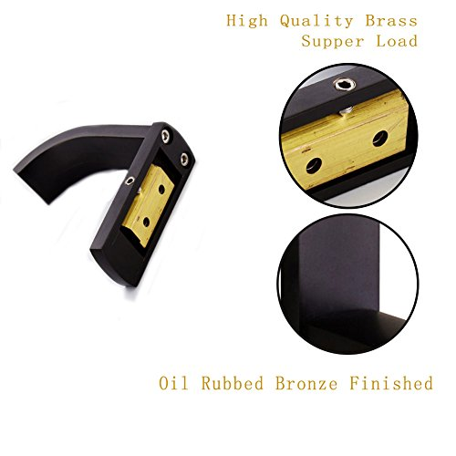 (2 Pack) MANCEL Brass Bath Towel Hook Sturdy Coat Hooks Wall Mounted Hanging Clothes Hat Frame Oil Rubbed Bronze