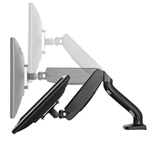 Swivel LCD Arm w/Unversal VESA Mount. Adjustable Height, Ergonomic, Single Desktop Computer Gas 2