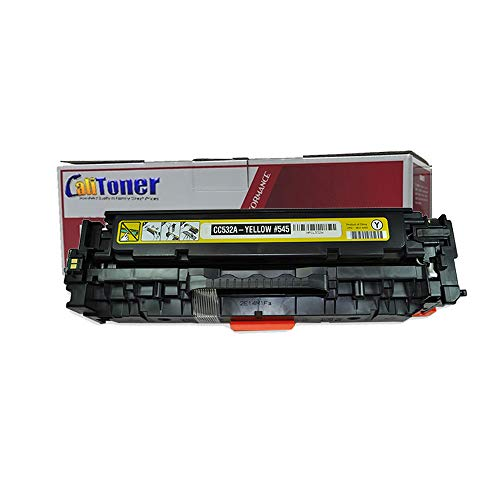 Hp Cc532a Yellow Toner - Calitoner Remanufactured Toner Cartridge Replacement for HP CC532A (Yellow)