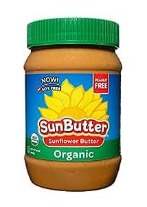 SunButter Organic Sunflower Seed Spread, 16-Ounce Plastic Jars (Pack of 6)